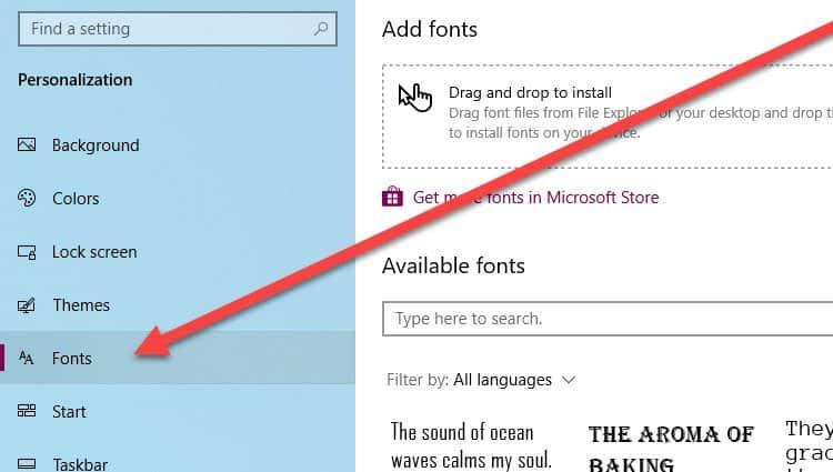 Font-settings