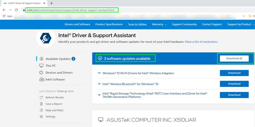 Intel Driver and Support Assistant