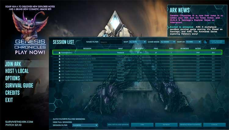 Join Ark Game Server