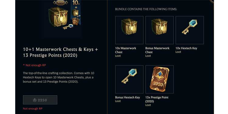 Masterwork Chests and Keys