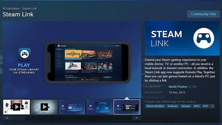 Steam-Link PC app