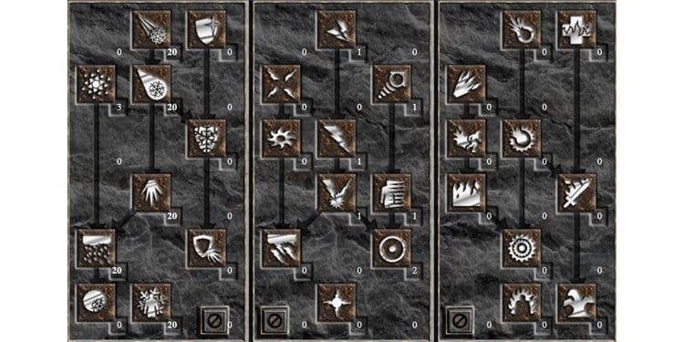 Diablo II sorceress blizzard build