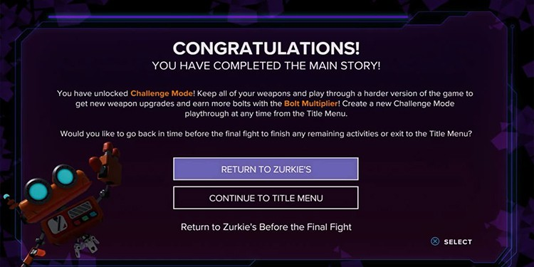 Ratchet & Clank: Rift Apart challenge mode