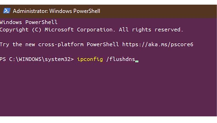 windows ipconfig flushdns
