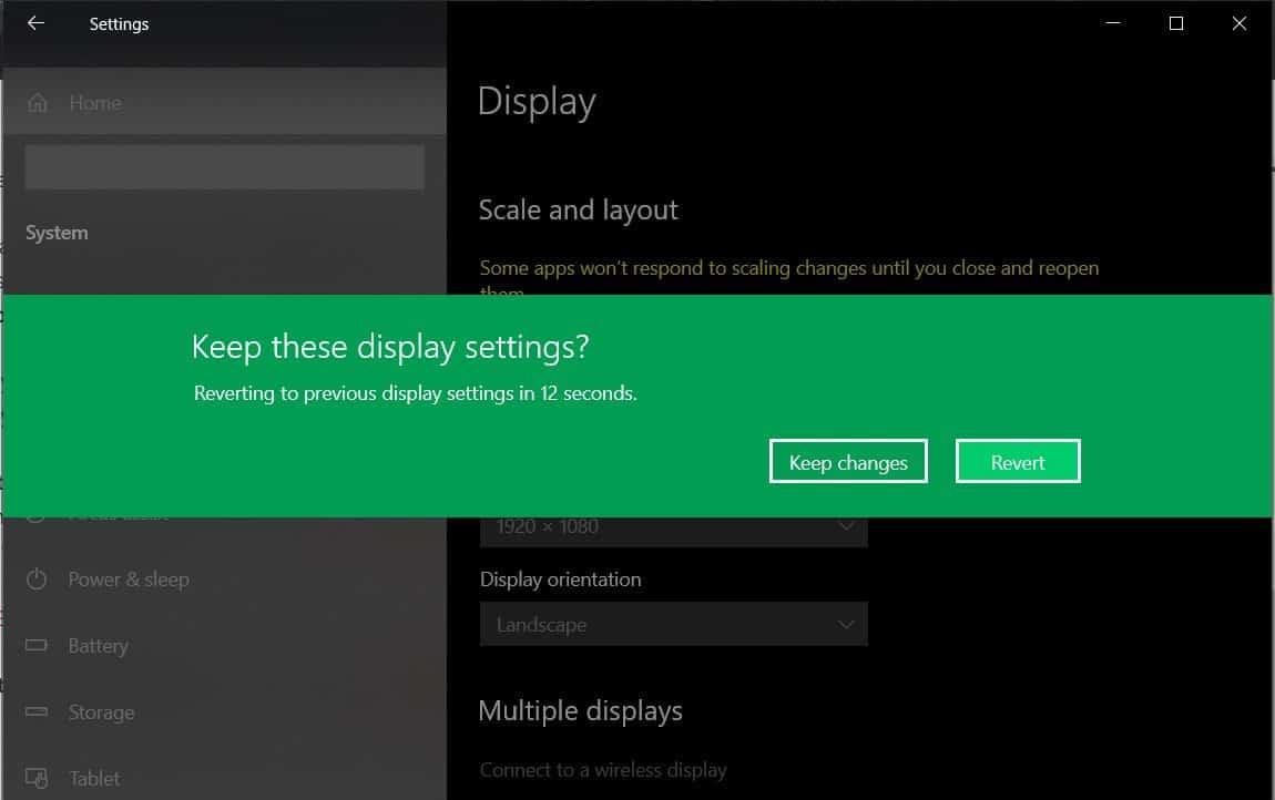 change display resolution
