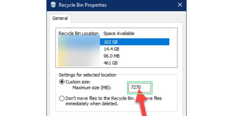 recycleBin-size