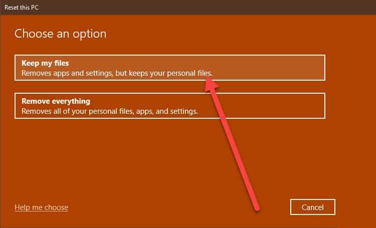 reset-PC-options