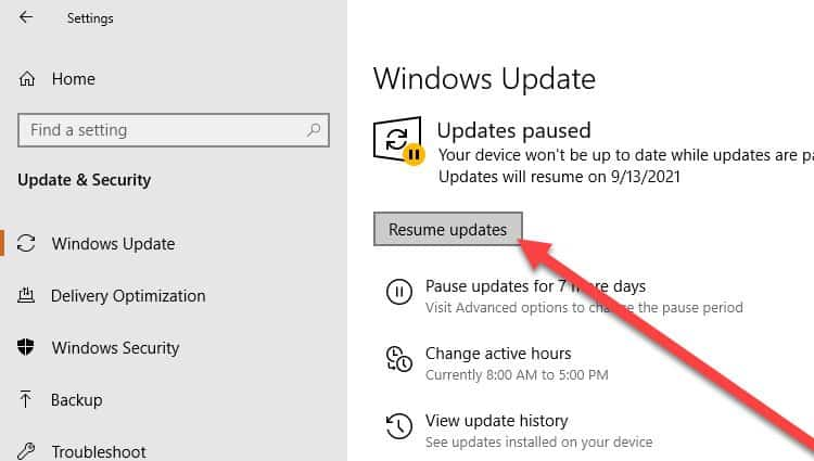 resume-windows-updates