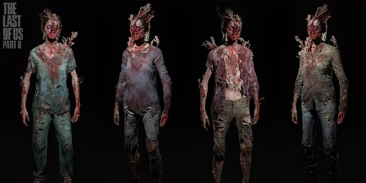 TLOU2 infected monsters