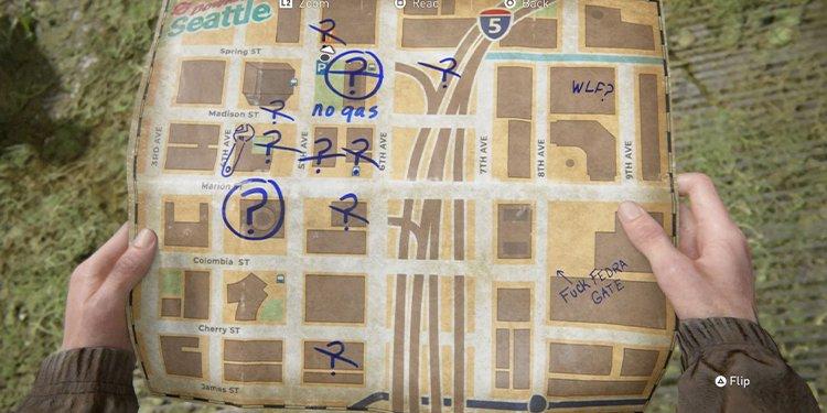TLOU2 seattle map