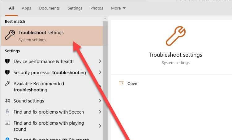 troubleshoot-settings