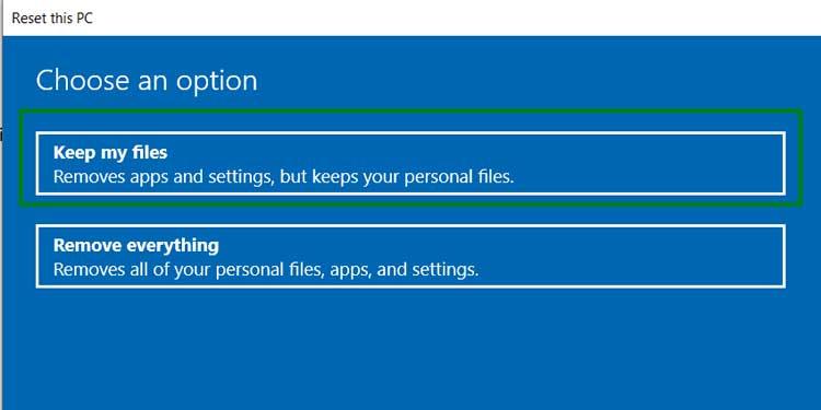 Keep my Files