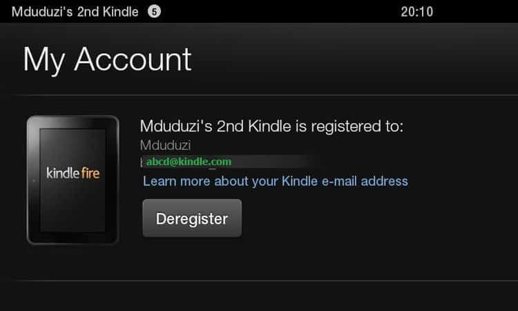 Kindle Email Address Amazon Fire