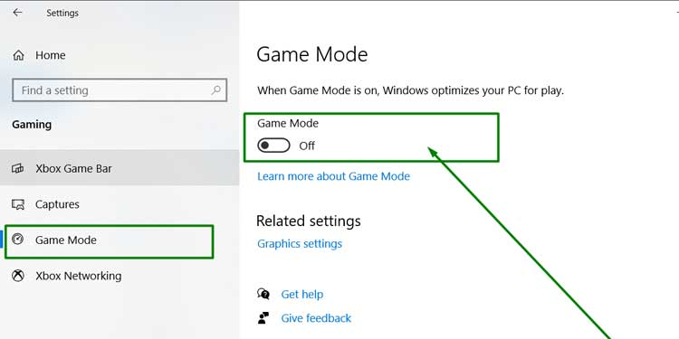 Turning Game Mode Off