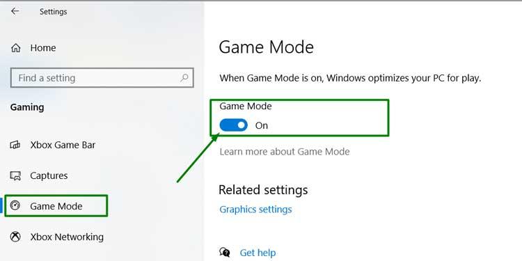 Turning Game Mode On